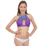 Tropical Rainbow Fishes  In Meadows Of Seagrass Cross Front Halter Bikini Top