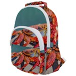 Colored Crab, Galapagos Island, Ecuador Rounded Multi Pocket Backpack