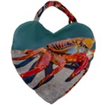 Colored Crab, Galapagos Island, Ecuador Giant Heart Shaped Tote