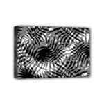 Tropical leafs pattern, black and white jungle theme Mini Canvas 6  x 4  (Stretched)