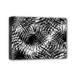 Tropical leafs pattern, black and white jungle theme Mini Canvas 7  x 5  (Stretched)