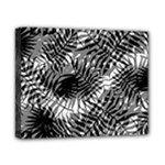 Tropical leafs pattern, black and white jungle theme Canvas 10  x 8  (Stretched)