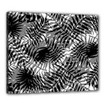 Tropical leafs pattern, black and white jungle theme Canvas 24  x 20  (Stretched)