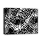 Tropical leafs pattern, black and white jungle theme Deluxe Canvas 16  x 12  (Stretched)