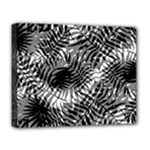 Tropical leafs pattern, black and white jungle theme Deluxe Canvas 20  x 16  (Stretched)