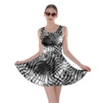Tropical leafs pattern, black and white jungle theme Skater Dress