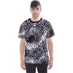 Tropical leafs pattern, black and white jungle theme Men s Sport Mesh Tee