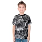 Tropical leafs pattern, black and white jungle theme Kids  Cotton Tee