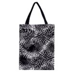 Tropical leafs pattern, black and white jungle theme Classic Tote Bag
