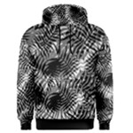 Tropical leafs pattern, black and white jungle theme Men s Core Hoodie
