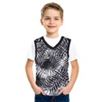 Tropical leafs pattern, black and white jungle theme Kids  Basketball Tank Top