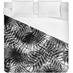 Tropical leafs pattern, black and white jungle theme Duvet Cover (King Size)