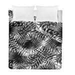 Tropical leafs pattern, black and white jungle theme Duvet Cover Double Side (Full/ Double Size)