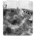 Tropical leafs pattern, black and white jungle theme Duvet Cover Double Side (California King Size)