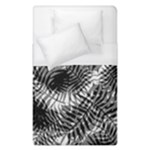 Tropical leafs pattern, black and white jungle theme Duvet Cover (Single Size)