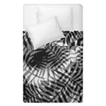 Tropical leafs pattern, black and white jungle theme Duvet Cover Double Side (Single Size)