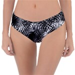 Tropical leafs pattern, black and white jungle theme Reversible Classic Bikini Bottoms