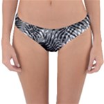 Tropical leafs pattern, black and white jungle theme Reversible Hipster Bikini Bottoms