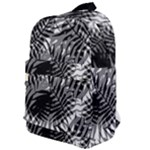 Tropical leafs pattern, black and white jungle theme Classic Backpack