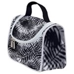 Tropical leafs pattern, black and white jungle theme Satchel Handbag