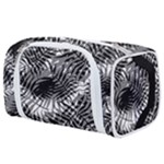 Tropical leafs pattern, black and white jungle theme Toiletries Pouch