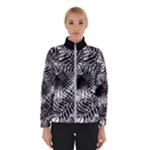 Tropical leafs pattern, black and white jungle theme Winter Jacket