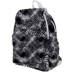 Tropical leafs pattern, black and white jungle theme Top Flap Backpack