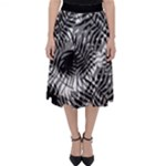 Tropical leafs pattern, black and white jungle theme Classic Midi Skirt
