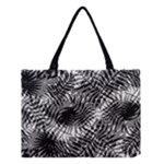 Tropical leafs pattern, black and white jungle theme Medium Tote Bag