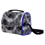 Tropical leafs pattern, black and white jungle theme Satchel Shoulder Bag
