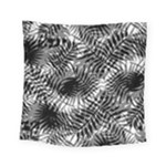 Tropical leafs pattern, black and white jungle theme Square Tapestry (Small)