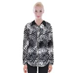 Tropical leafs pattern, black and white jungle theme Womens Long Sleeve Shirt