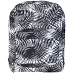 Tropical leafs pattern, black and white jungle theme Full Print Backpack