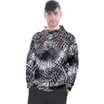 Tropical leafs pattern, black and white jungle theme Men s Pullover Hoodie
