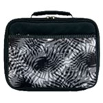Tropical leafs pattern, black and white jungle theme Lunch Bag