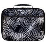 Tropical leafs pattern, black and white jungle theme Full Print Lunch Bag