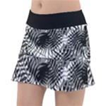 Tropical leafs pattern, black and white jungle theme Tennis Skorts