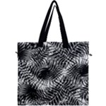 Tropical leafs pattern, black and white jungle theme Canvas Travel Bag
