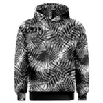 Tropical leafs pattern, black and white jungle theme Men s Overhead Hoodie