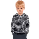 Tropical leafs pattern, black and white jungle theme Kids  Overhead Hoodie