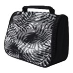 Tropical leafs pattern, black and white jungle theme Full Print Travel Pouch (Small)