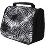 Tropical leafs pattern, black and white jungle theme Full Print Travel Pouch (Big)