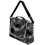 Tropical leafs pattern, black and white jungle theme Box Up Messenger Bag
