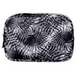 Tropical leafs pattern, black and white jungle theme Make Up Pouch (Small)