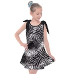 Tropical leafs pattern, black and white jungle theme Kids  Tie Up Tunic Dress