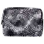 Tropical leafs pattern, black and white jungle theme Make Up Pouch (Medium)