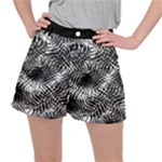 Tropical leafs pattern, black and white jungle theme Ripstop Shorts