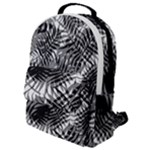 Tropical leafs pattern, black and white jungle theme Flap Pocket Backpack (Small)