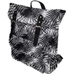 Tropical leafs pattern, black and white jungle theme Buckle Up Backpack