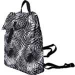 Tropical leafs pattern, black and white jungle theme Buckle Everyday Backpack